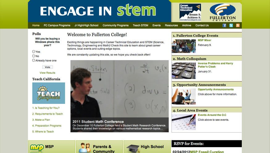 homepage-engageinstem-website