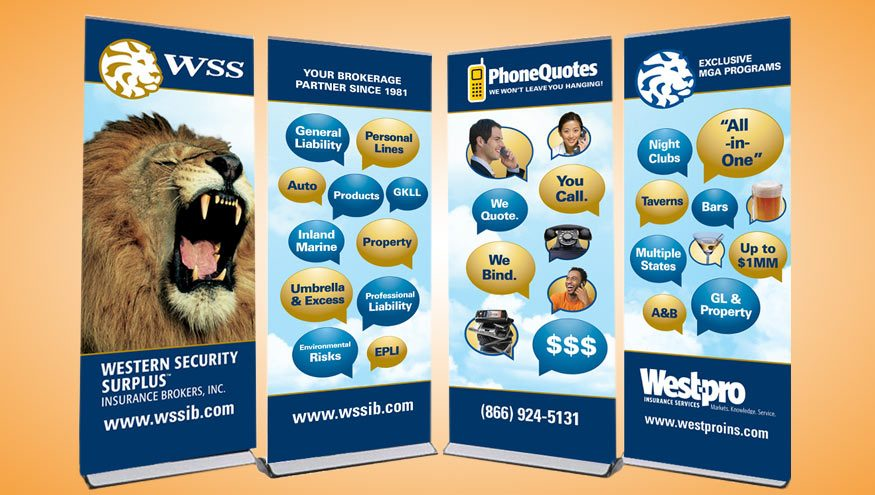 Western Security Surplus Trade Show Banners